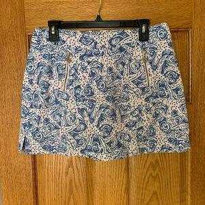 Lily Pulitzer Blue Floral Mini Skirt